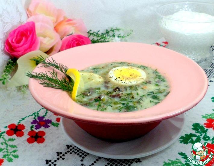 Рецепт: Греческий пасхальный суп Классический