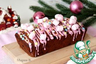 Рецепт: Рождественский кекс с клюквой и вишней