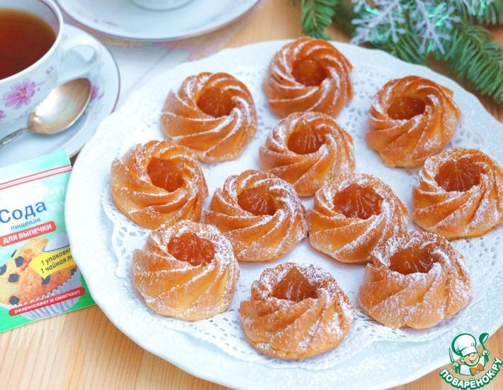 Рецепт: Индийские пирожные с абрикосовым джемом