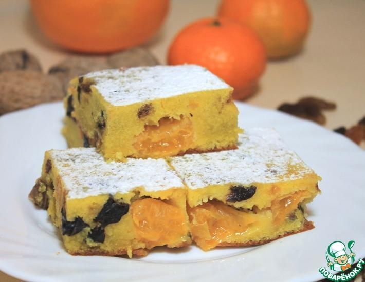 Рецепт: Рождественский кекс с мандаринами
