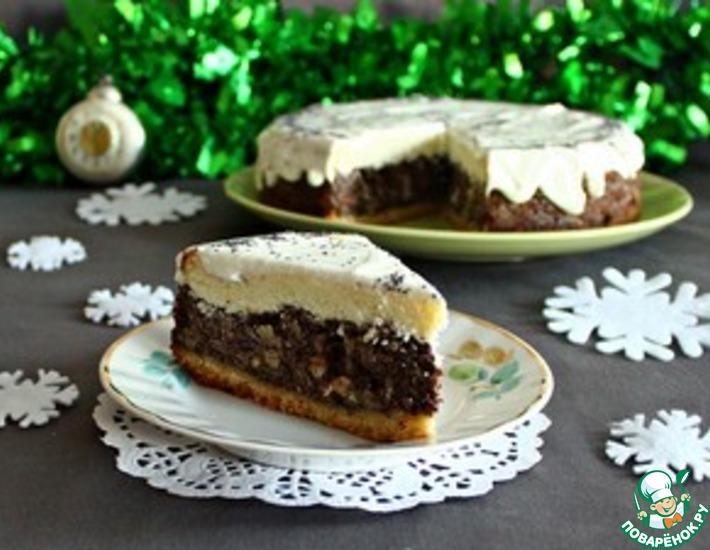 Рецепт: Нежный маково-творожный пирог