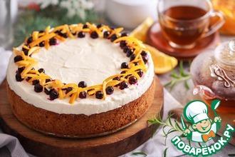 Рецепт: Творожно-ягодный пирог под снежной шапкой
