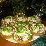 Салат с курицей и грибами Фуршетный