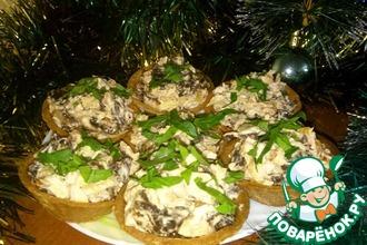 Рецепт: Салат с курицей и грибами Фуршетный