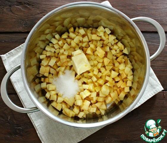 Корзиночки с яблочной начинкой и меренгой