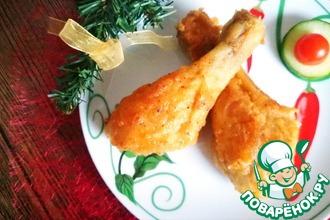 Рецепт: Куриные голени в золотистой панировке
