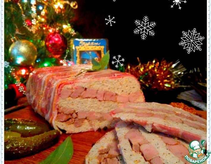 Рецепт: Рождественский террин с индейкой