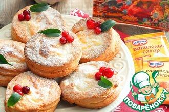 Рецепт: Творожное печенье с творожной начинкой