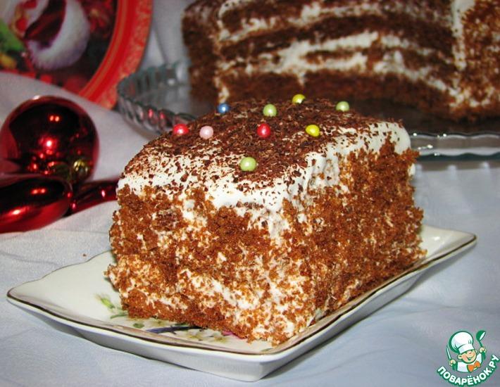 Рецепт: Шоколадный торт Наслаждение