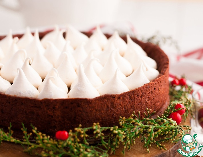 """Кофейно-шоколадный торт """"Заснеженные вершины"""""""