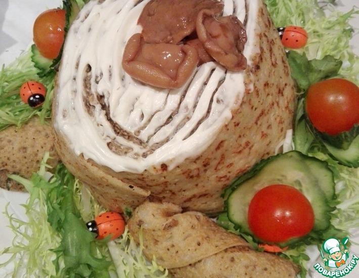 Рецепт: Салат Пенек с жюльеном