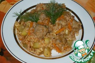 Рецепт: Рагу из кабачков с фрикадельками
