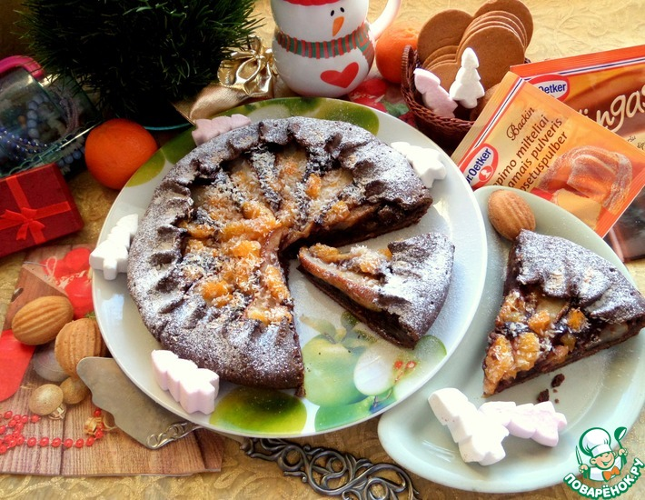 Рецепт: Шоколадная галета с фруктами