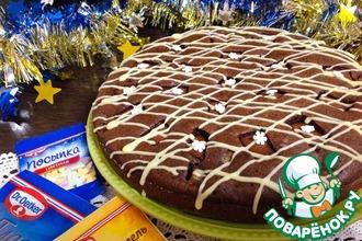 Рецепт: Шоколадно-грушевый пирог с коньяком