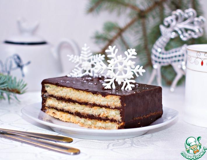 Рецепт: Шоколадно-кокосовый торт