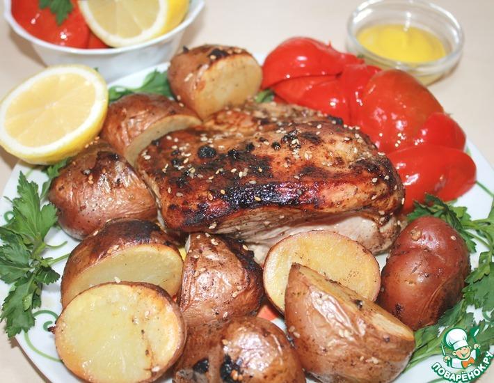 Рецепт: Филе индейки с картофелем в духовке