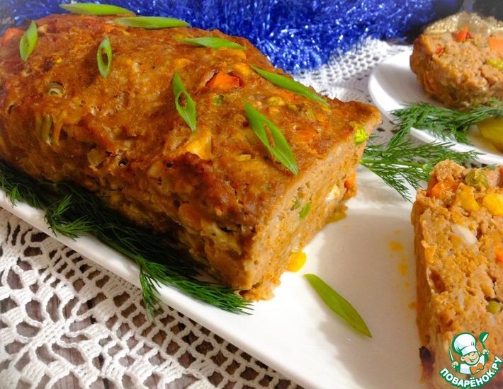 Рецепт: Мясной хлеб с овощами