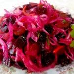 Салат со свеклой Зимний