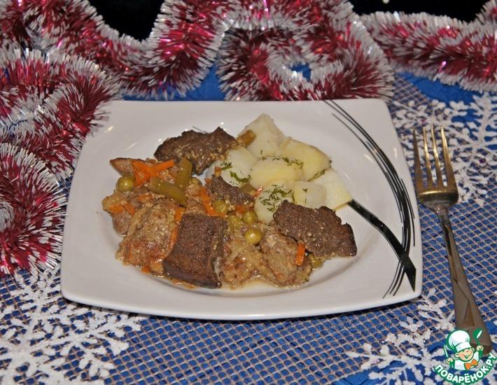 Рецепт: Свинина с пивом по-баварски