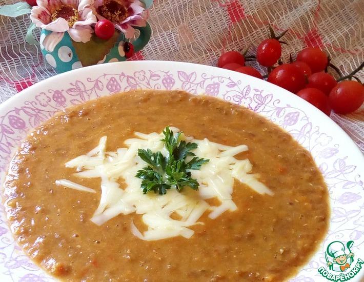 Рецепт: Томатный суп с чечевицей Почти Италия