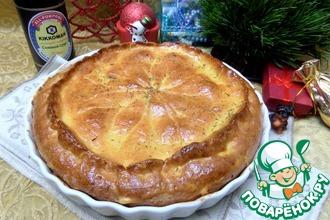 Рецепт: Пирог с картофелем и лососем