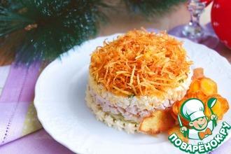 Рецепт: Салат с куриным филе Рандеву
