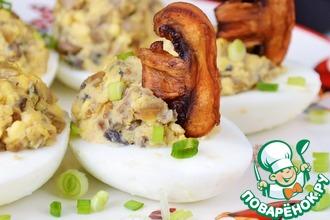 Рецепт: Фаршированные яйца Фуршет