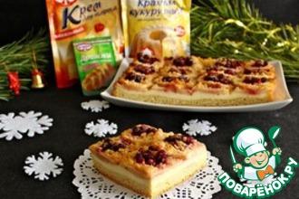 Рецепт: Яблочный пирог с клюквой