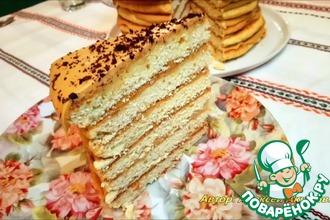 Рецепт: Торт Рыжик по-деревенски