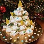 Торт из безе Новогодняя ёлочка