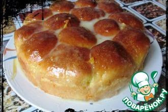 Рецепт: Пирог из апельсиновых булочек