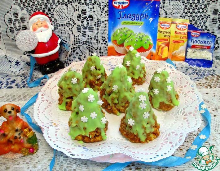Рецепт: Пирожные Муравейники ёлочки