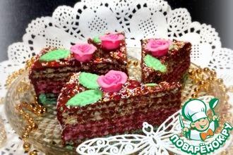 Рецепт: Торт вафельный с нутеллой