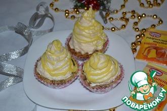 Рецепт: Мини-пирожные «Весёлые пирамидки»