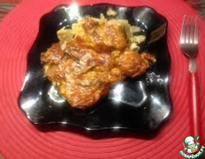 Рецепт: Запеченный картофель с грибами под сыром