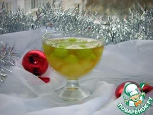 Рецепт: Виноградное желе с фруктами