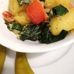 Картофель с мангольдом