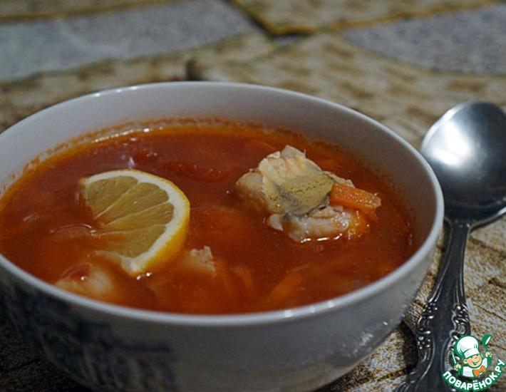Рецепт: Суп томатный с судаком