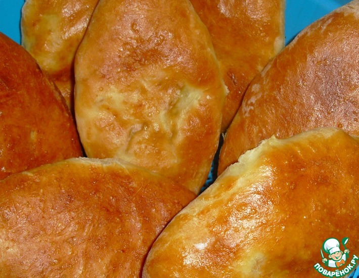 Рецепт: Пирожки на картофельном отваре