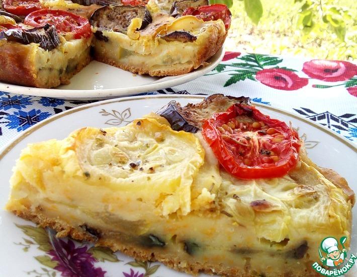 Рецепт: Постный овощной пирог