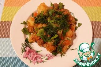 Рецепт: Жаркое с зеленым горошком в мультиварке