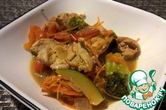 Рецепт: Тушеная курица по-азиатски