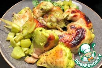 Рецепт: Курица, запеченная с базиликом