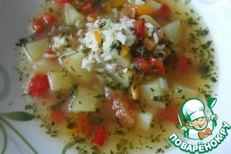 Рецепт: Рисовый суп с зимними помидорами