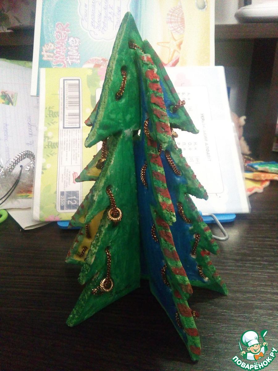 Пряничная 3d елка
