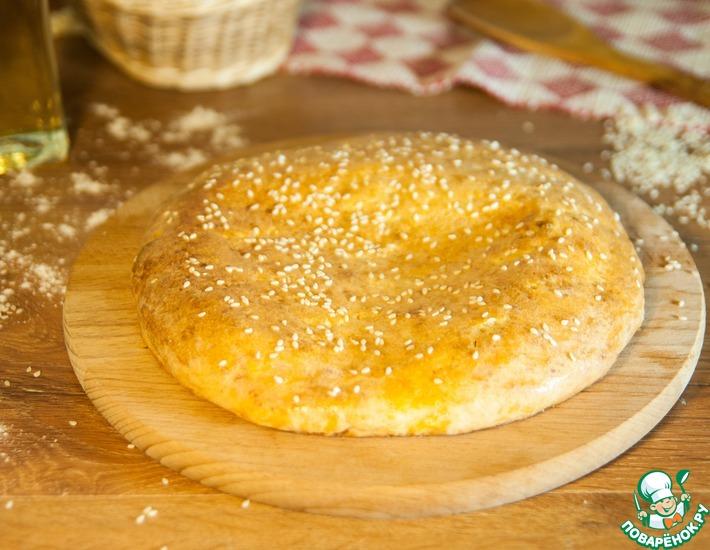 Рецепт: Творожная лепешка с сыром