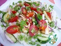 Андалузский салат с овощами ингредиенты