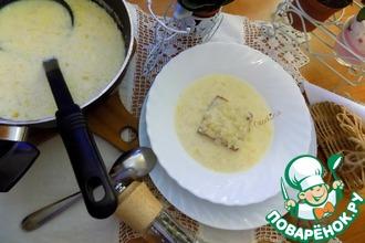 Рецепт: Французский луковый суп по-деревенски