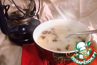 Рецепт: Суп сливочно-грибной с вермишелью