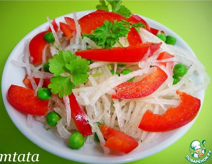 Овощные салат из дайкона